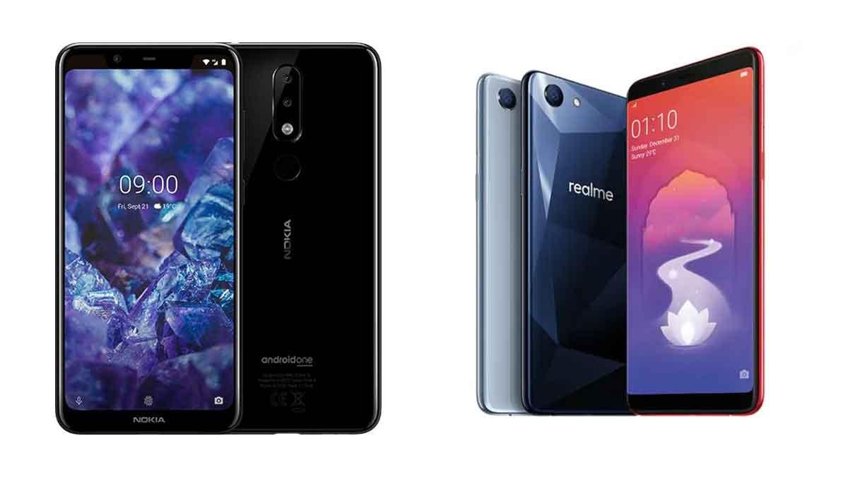 Nokia 5.1 Plus vs RealMe 1
