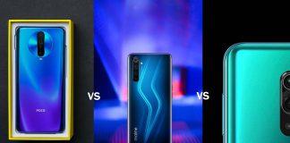 Realme 6 Pro vs Redmi Note 9 Pro Max vs POCO X2
