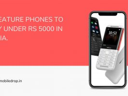 top 5 Feature phones under Rs 5000
