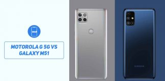 Motorola G 5G vs Samsung Galaxy M51