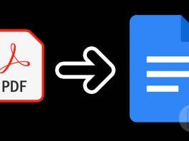 Convert PDF to Document