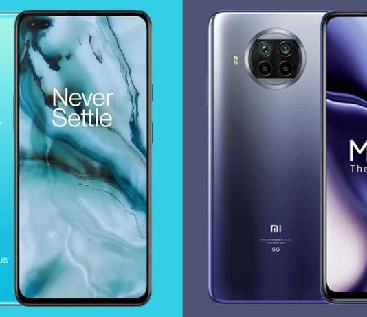 OnePlus Nord and Mi 10i 5G
